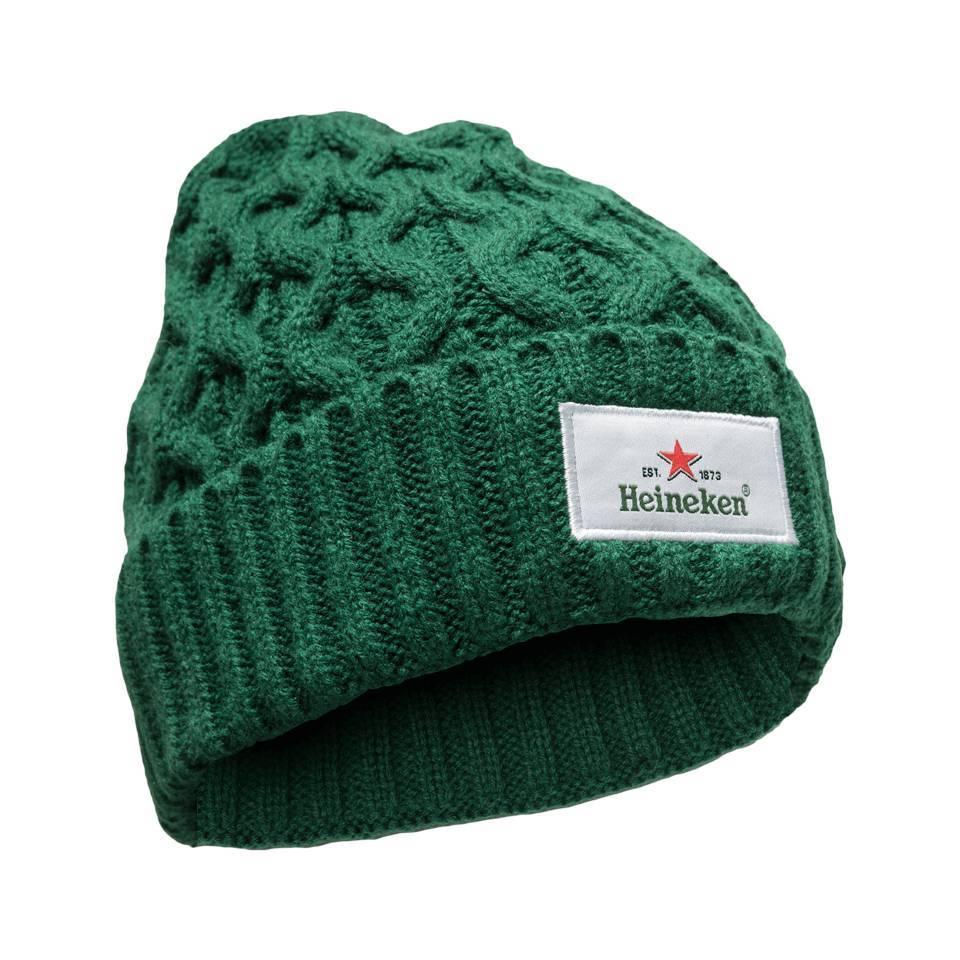 Heineken Beanie Knitted Green