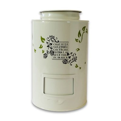 Tea tin THEODOR - White