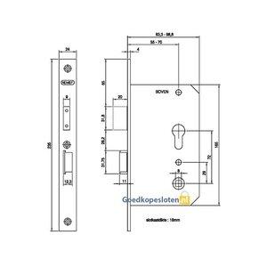 Nemef 4429 Veiligheidscomfortslot Afgerond PC72 DM55 SKG**
