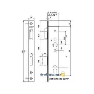 Nemef 9601 Smaldeurslot PC92 DM