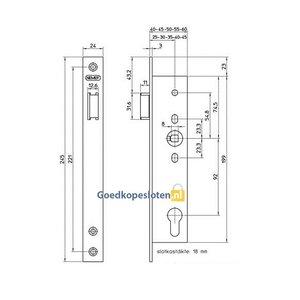 Nemef 9631 Smal Cilinder Loopdeurslot DM