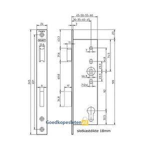 Nemef 9672 Anti-Paniek deurslot Kruk-Kruk
