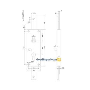 Nemef 1804 en 1809 opbouw garagedeurslot