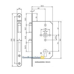 Nemef 649 Deur projectslot cilinder
