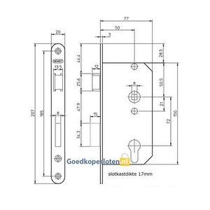 Nemef 549 Cilinder deurslot
