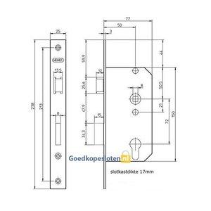 Nemef 569 Cilinder deurslot
