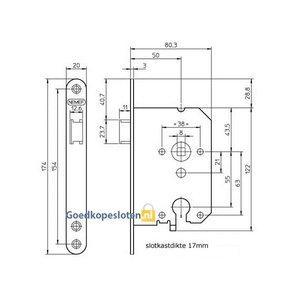 Nemef 1269/37 cilinder loop deurslot