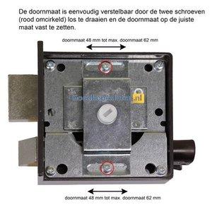 Lips 1754VS verstelbaar oplegslot doornmaat 42-62mm draairichting 1 + 2 skg**