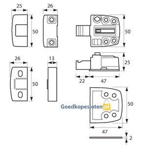 Axa 3015 oplegslot SKG* verschillende uitvoeringen en kleuren..