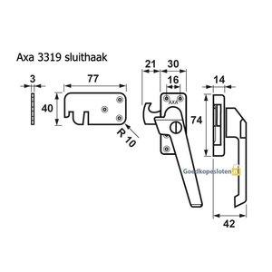 Axa 3319 raamsluiting skg* met cilinder