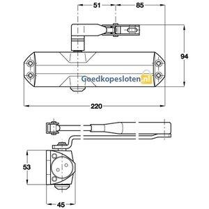 Dorma TS68 deurdranger klein