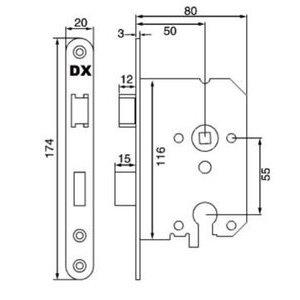 Dulimex Dx Dag & Nacht Doormaat 50 mm ronde voorplaat - wit - euro profiel
