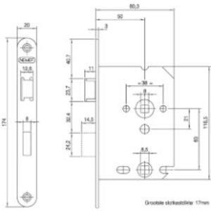Dulimex Dx Badkamer / WC slot dm 50 wit