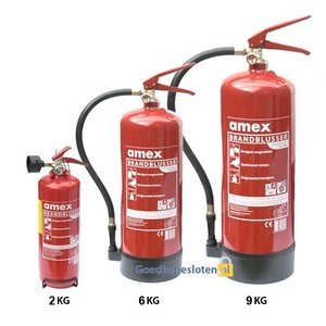 Brandblusser klasse a.b.c. 6 kg