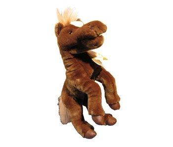 Handpop Paard bruin