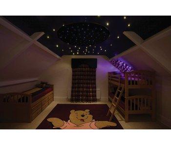 Sterrenplafond rond met lichtbron en afstandsbediening