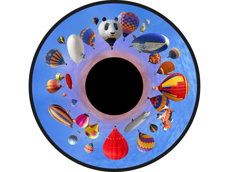 "OPTIkinetics  Magnetisch effectwiel 6"" - thema: Balloon festival"