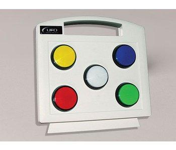 Kleurenpaneel t.b.v vezelnevel lichtbron