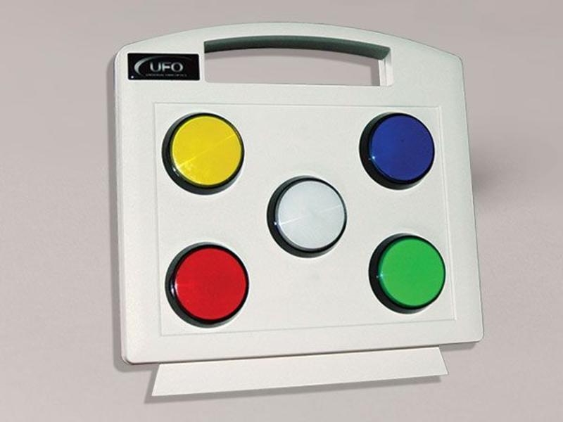 Universal Fibre Optics Ltd. Kleurenpaneel t.b.v vezelnevel lichtbron