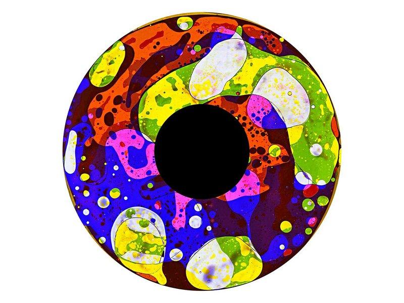 """OPTIkinetics 6"""" Effectwiel vloeistof   roze/blauw/geel/groen"""