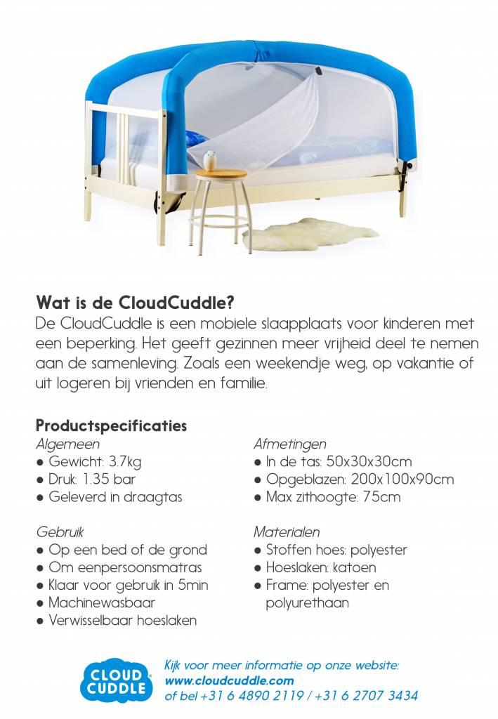 Bed Voor Kind Met Beperking.Cloudcuddle Junior Mobiele Bedtent Blauw Atelier Michel
