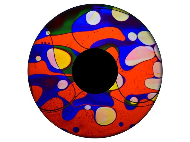 """OPTIkinetics Magnetisch 6"""" effectwiel vloeistof (Rainbow Dream)"""