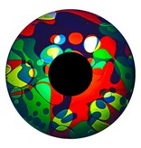 """OPTIkinetics Magnetisch 6"""" effectwiel vloeistof (Jungle Jive)"""