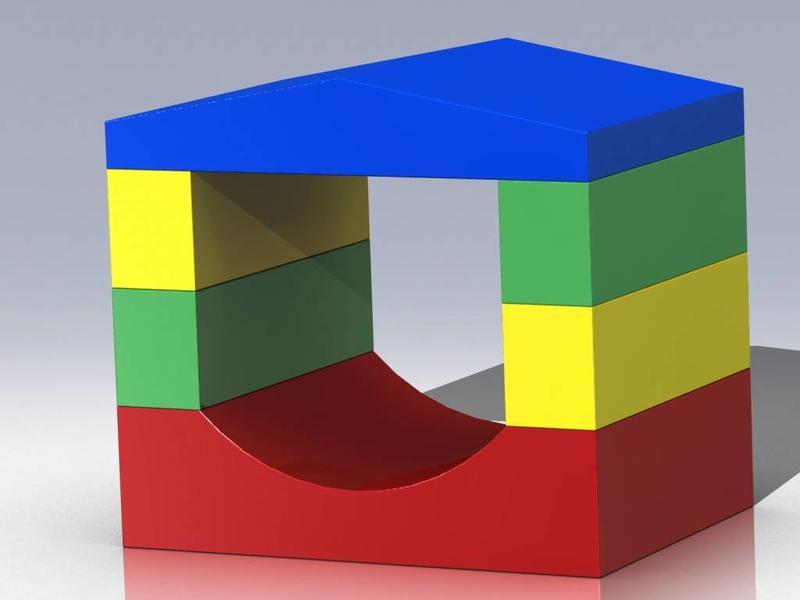 Atelier Michel Koene Bouwelementen daktunnel, 4 palen, Bisonyl