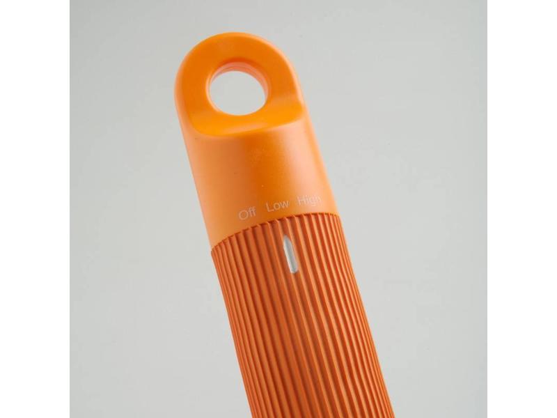 Massageslang regelbaar- oranje-   115cm