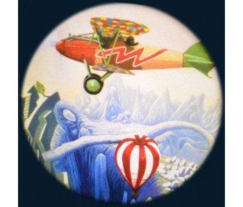 """Magnetisch 6"""" Effectwiel thema: Aviation"""