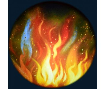 """Magnetisch 6"""" Effectwiel thema: Fire"""