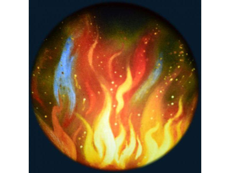 """OPTIkinetics Magnetisch 6"""" Effectwiel thema: Fire"""