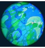 """OPTIkinetics Magnetisch 6"""" effectwiel vloeistof (Ocean Breeze)"""