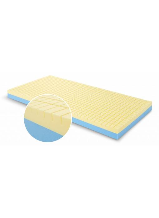 Presstige Deluxe Care zorgmatras incl. IC-hoes blauw/gr