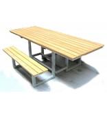 Picknicktafel, rolstoel onderrijdbaar