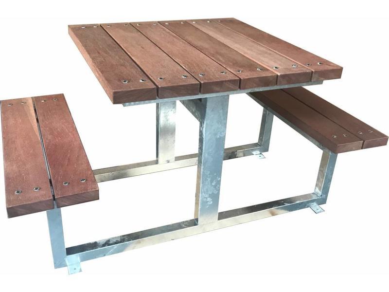 Atelier Michel Koene Picknicktafel AMK verzinkt, extra zwaar uitgevoerd