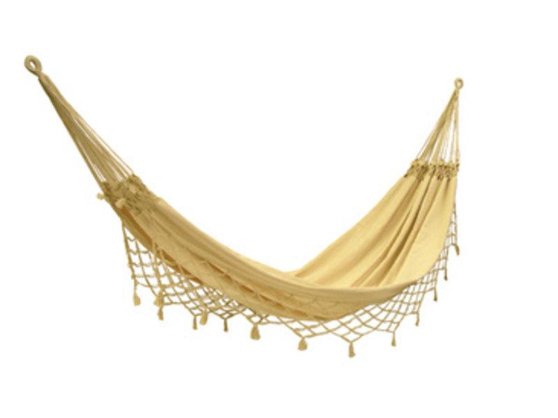 Hangmat Sambito- geknoopte zijkanten- ecru   240 x 160 cm