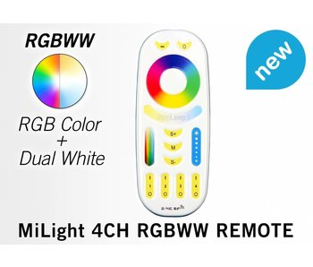 RF-Afstandsbediening tbv LED RGB+CCT lampen