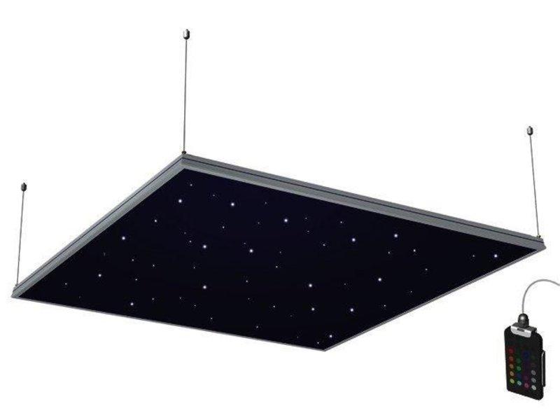 Sterrenhemeltegel Astroline 120x120cm zw rgb ab   120x120cm, excl AB