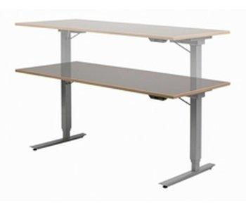 Easydesk hoog/laag tafel- blad Ecoplex HPL wit