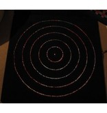 Sterrenhemeltapijt cirkels- incl lichtbron   125 x 125cm