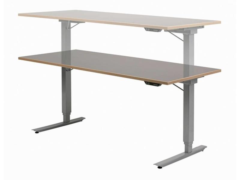 Easydesk hoog/laag tafel met blad   180 x 80cm, slag 65cm