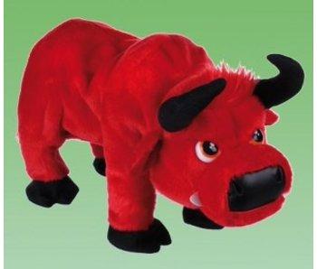 Gekke stampende stier rood of zwart