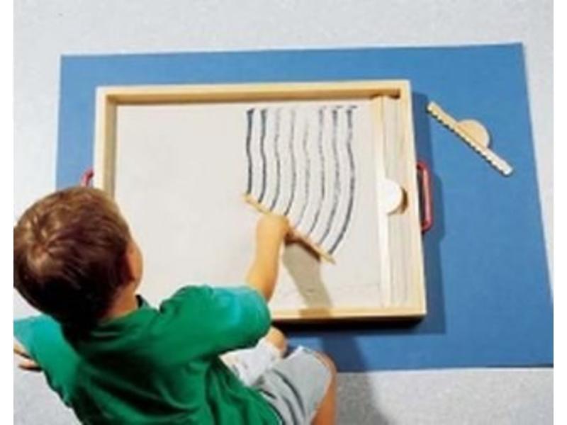 Dusyma Zandspeelbak- met accessoires en zand   65 x 50 x 5cm