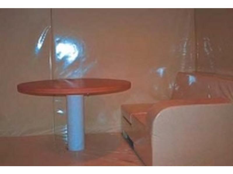 Atelier Michel Koene Time-Out tafel, blad HPL wit, poot gepoedercoat   Ø 120cm x 80cm