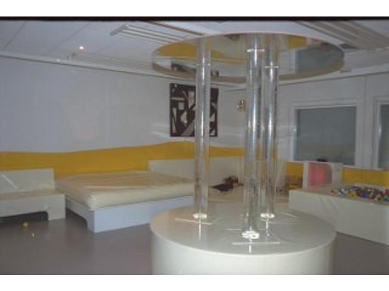 Atelier Michel Koene Eiland t.b.v. Bubble Unit rond, Bisonyl   Ø 160 x 50cm