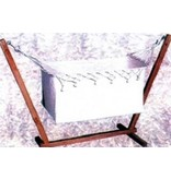 Babyhangmatbed inclusief houten statief   40 x 80 x 40cm