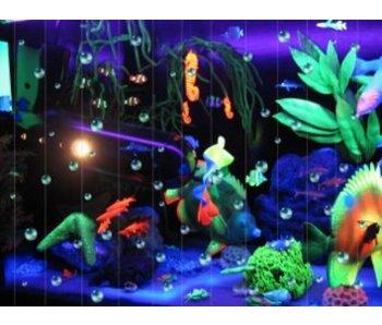 Blacklightkast aquarium met bubbel front