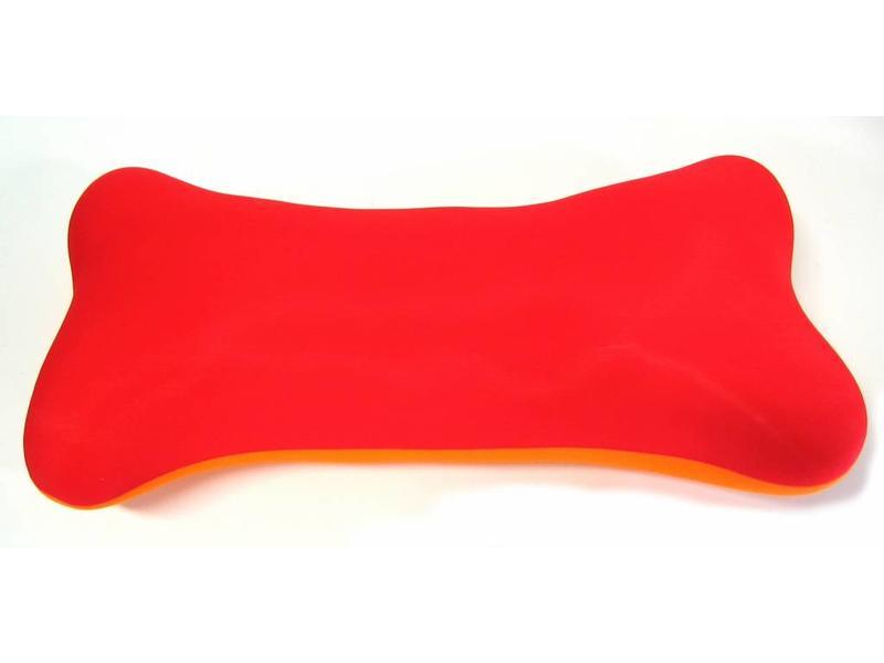 Mio Mio bot- rood-oranje kussentje   42 x 14 x 11cm