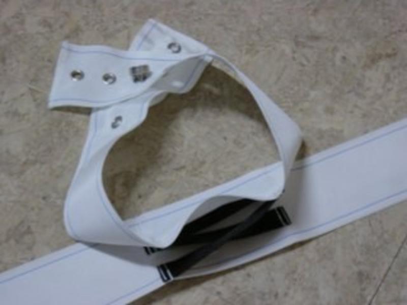 Rolbandgordel nylon- incl. band v. onder bed- Zw.slot   band v. onder bed- Zw.slot